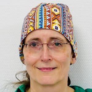 "Dr. Imogen Wilde OP-Haube ""Indian Nights"" aus 100% Baumwolle"