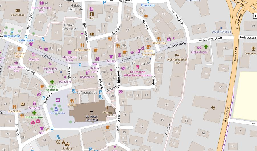 Openstreetmap Straßenkarte Öhringen